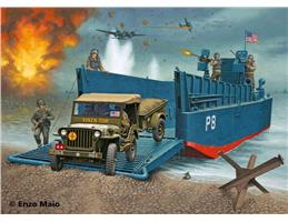 Revell 03000 - D-Day Set LCM3 & 4x4 Off-Road Vehicle, 1:35